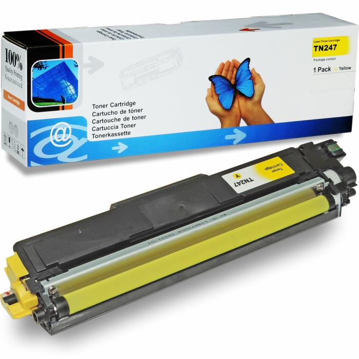 Kompatibel Brother TN-243, TN-247 Y Yellow Gelb Toner...