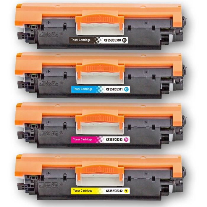 Kompatibel HP 126A BK / CE310A, 126A C / CE311A, 126A M /...