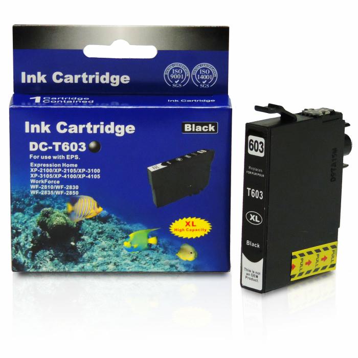 Kompatibel Epson Seestern, T03A1, 603XL, C13T03A14010 BK Schwarz Black Druckerpatrone für 500 Seiten von D&C