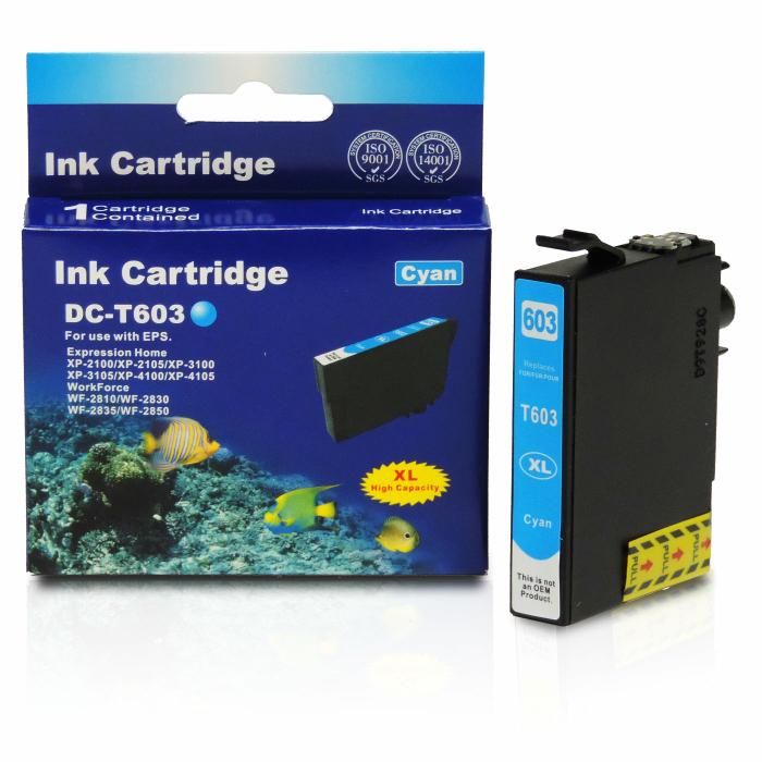 Kompatibel Epson Seestern, T03A2, 603XL, C13T03A24010 C Cyan Blau Druckerpatrone für 350 Seiten von D&C