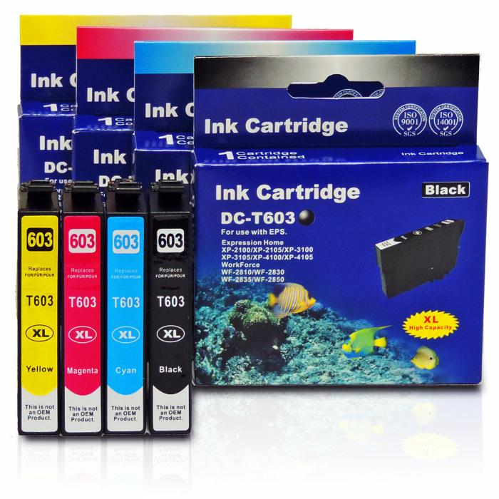 Kompatibel 4er Set Epson Seestern, T03A6, 603XL, C13T03A64010 Druckerpatronen Tinte von D&C