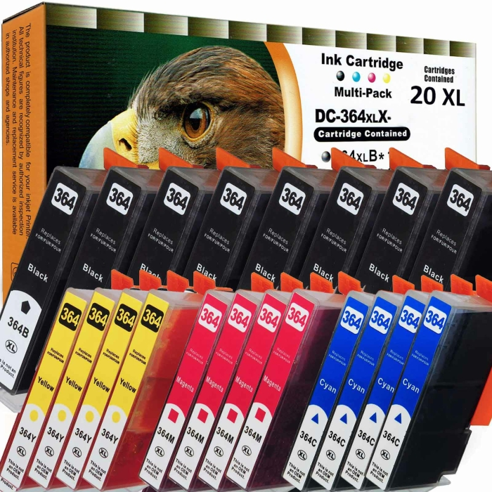 Kompatibel 20x Tinte HP HP364XL Patronen Marke DC HP-364...