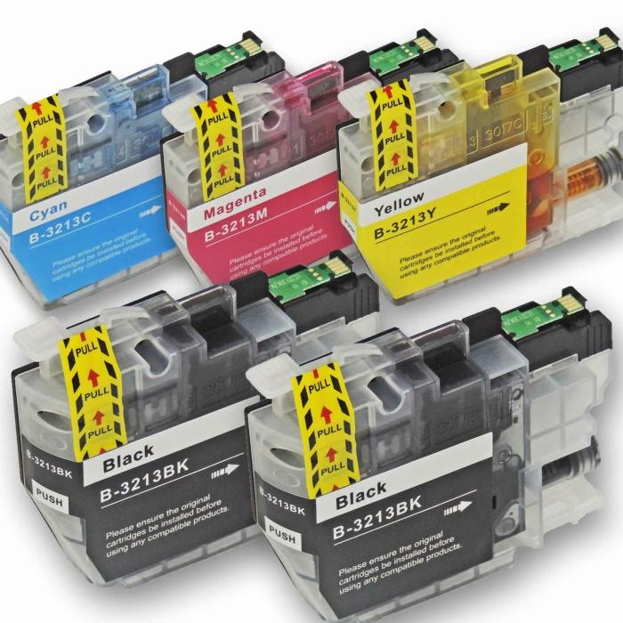 Kompatibel Brother LC-3213 XL Set 5 Druckerpatronen alle...
