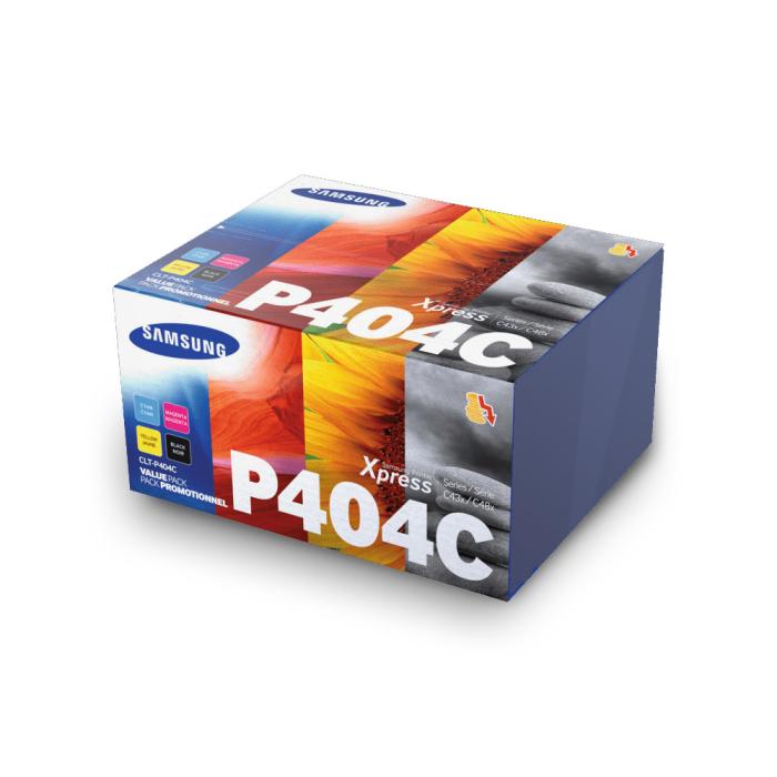 Original Samsung Toner Kombi-Pack CLT-P404C SU365A Schwarz, Cyan, Magenta, Gelb 1500 Seiten