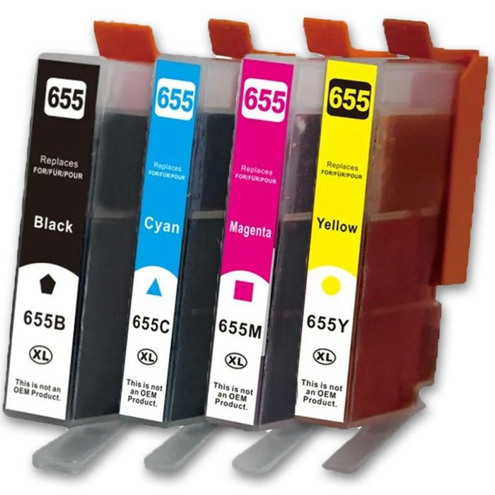 Kompatibel 4er Set HP 655XL Druckerpatronen Tinte von...