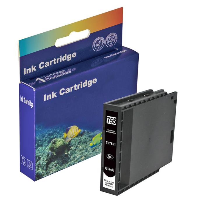 Kompatibel Epson T7551XL, C13T755140 BK Schwarz Black Druckerpatrone für 5.000 Seiten von D&C
