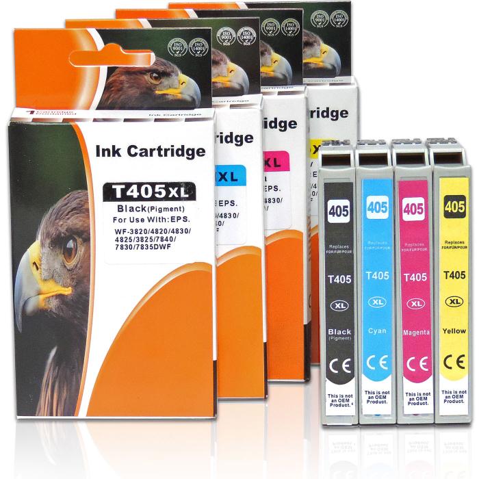 Kompatibel 4er Set Epson 405XL, C13T05H64010, T05H6...