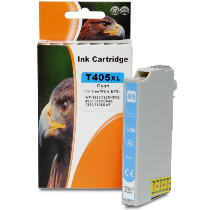 Kompatibel Epson 405XL, C13T05H24010, T05H2 C Cyan Blau Druckerpatrone für 1.100 Seiten von D&C