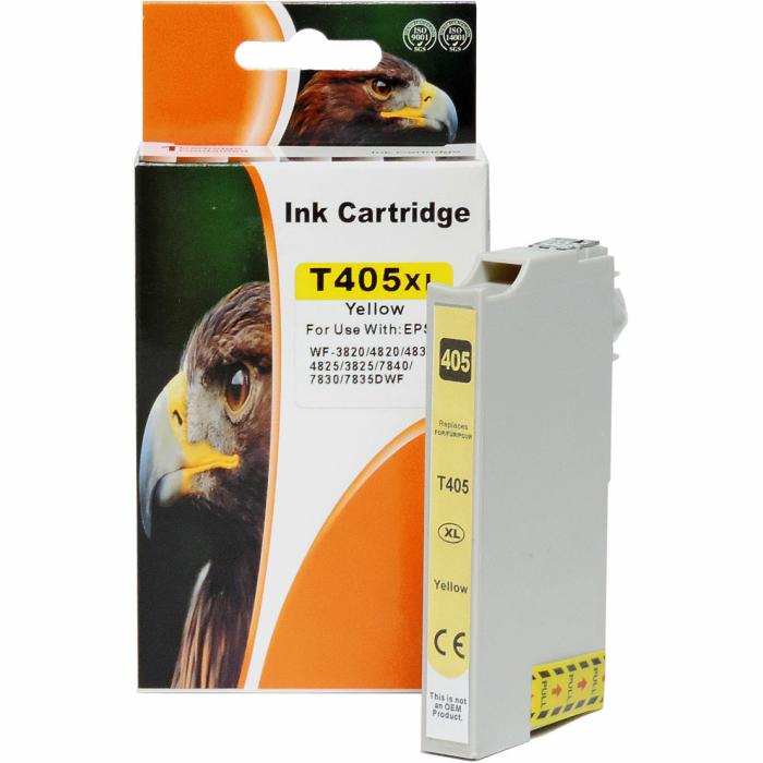 Kompatibel Epson 405XL, C13T05H44010, T05H4 Y Yellow Gelb Druckerpatrone für 1.100 Seiten von D&C