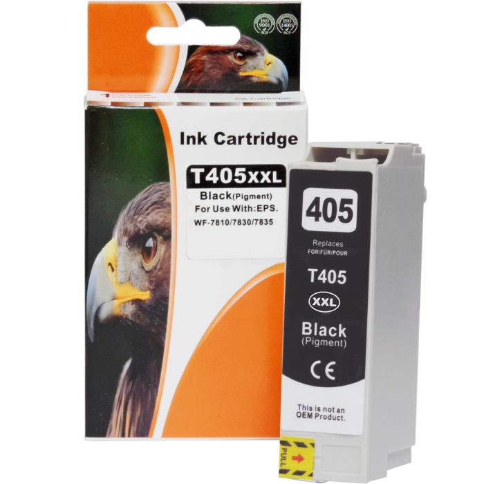 Kompatibel Epson C13T02J14010, T02J1, 405XXL BK Schwarz Black Druckerpatrone für 2.200 Seiten von D&C
