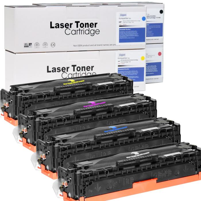 Kompatibel Canon 716BK, 716C, 716M, 716Y Sparset 4 Toner alle Farben von D&C