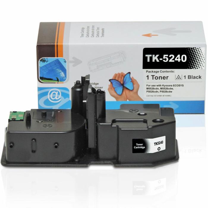 Kompatibel Kyocera TK-5240K BK Schwarz Black Toner Patrone für 4.000 Seiten von D&C