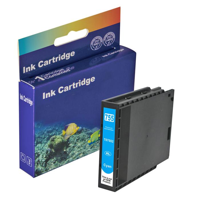 Kompatibel Epson T7552XL, C13T755240 C Cyan Blau Druckerpatrone für 4.000 Seiten von D&C