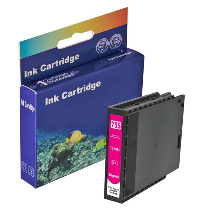 Kompatibel Epson T7553XL, C13T755340 M Magenta Rot...