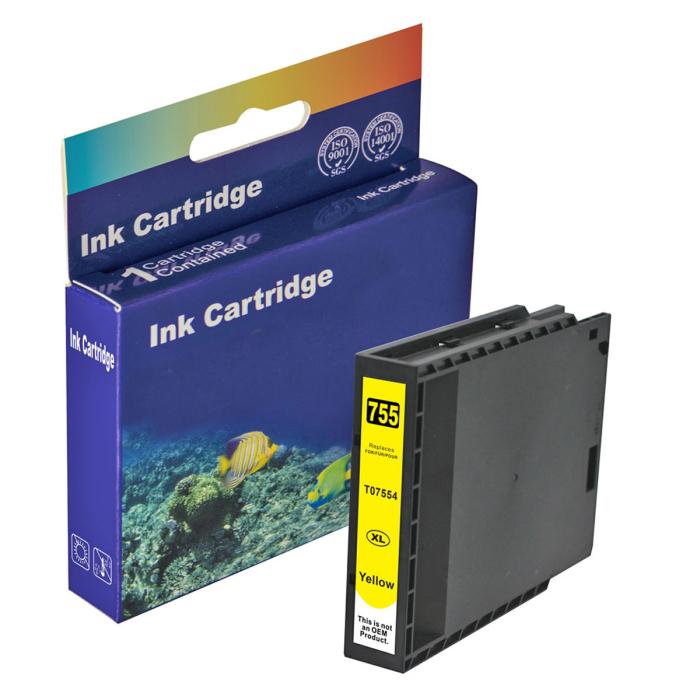 Kompatibel Epson T7554XL, C13T755440 Y Yellow Gelb Druckerpatrone für 4.000 Seiten von D&C