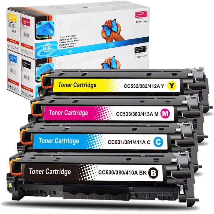 Kompatibel HP 304A, CC530A, CC531A, CC533A, CC532A...
