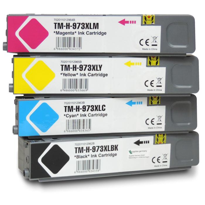 Kompatibel 4er Set HP 973X Druckerpatronen Tinte von Gigao