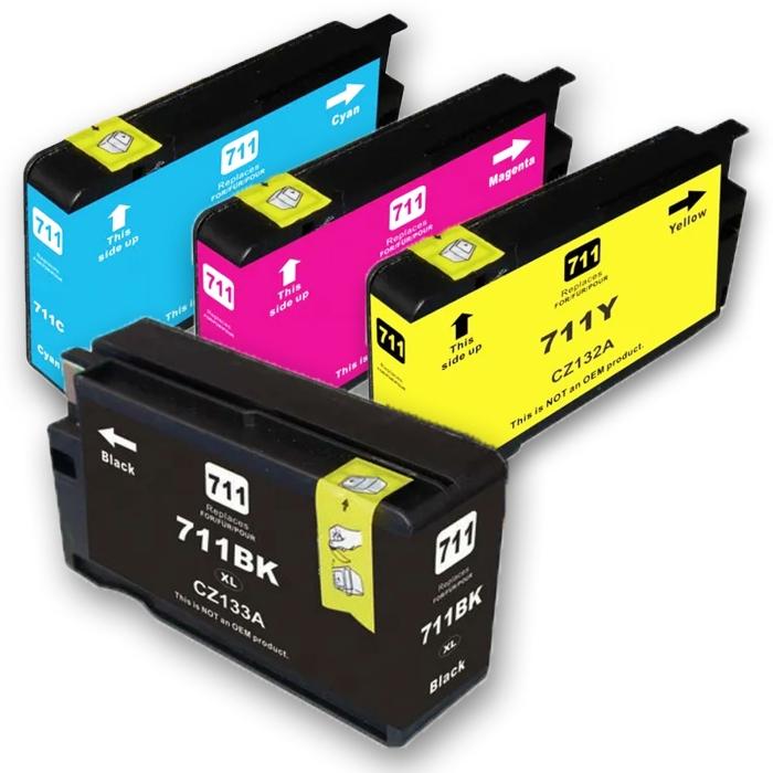 Kompatibel 4er Set HP 711XL Druckerpatronen Tinte von...