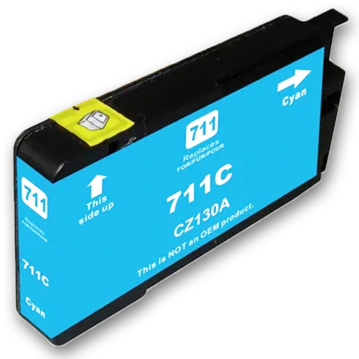 Kompatibel HP 711XL, CZ130A C Cyan Blau Druckerpatrone für 1.500 Seiten von D&C