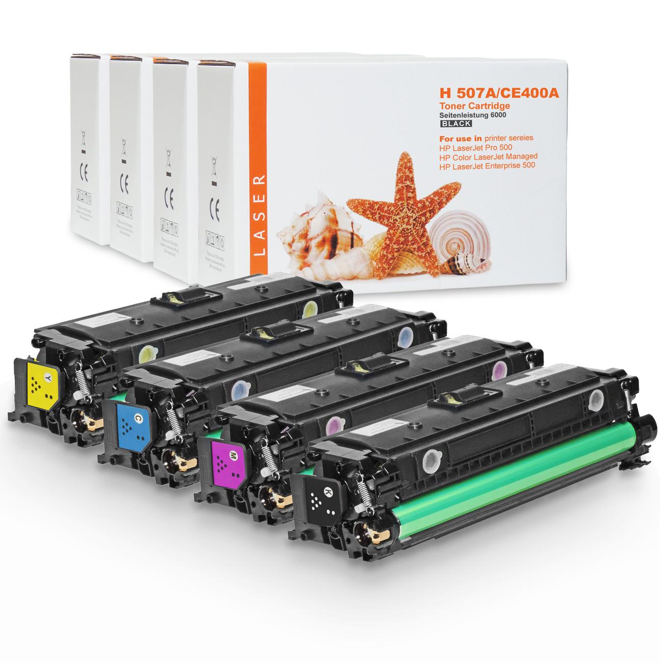 4-toner alle Farben ersetzt HP507 / HP CE400X, CE401A, CE403A, CE402A