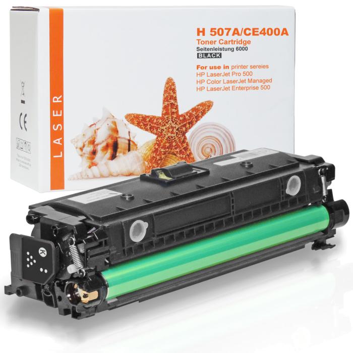 Kompatibel HP 507X, CE400X BK Schwarz Black Toner Patrone für 11.000 Seiten von Gigao