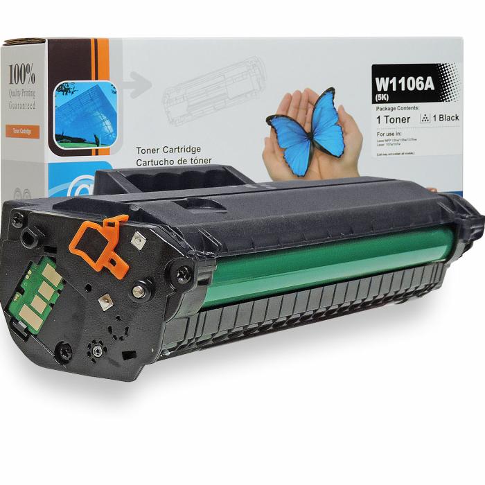 Kompatibel HP 106A, W1106A BK Schwarz Black Toner Patrone...