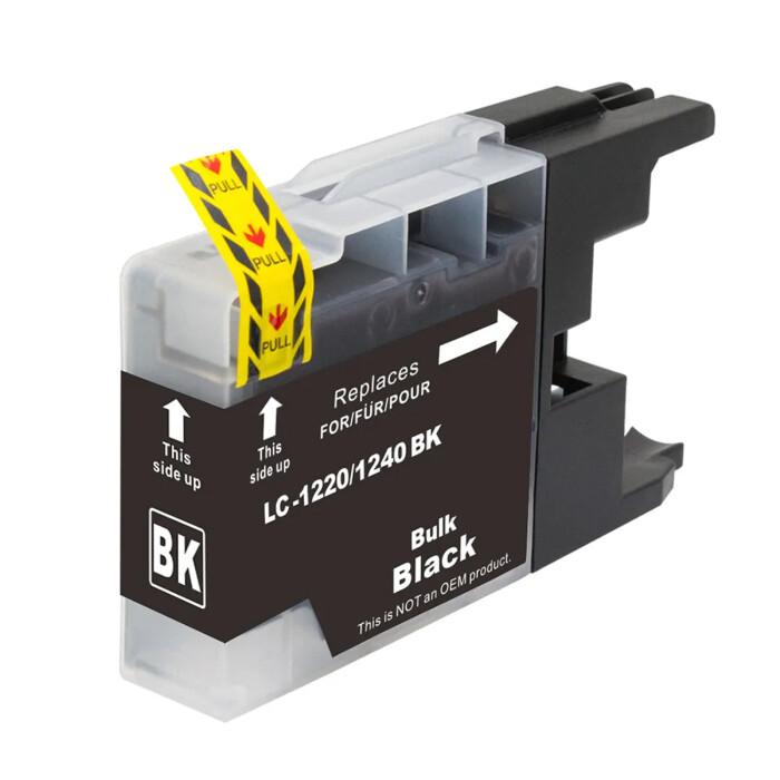 Kompatibel Brother LC-1240 XL BK Schwarz Black Druckerpatrone für 600 Seiten von D&C