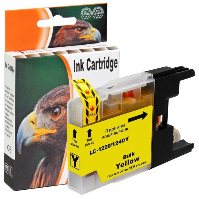 Kompatibel Brother LC-1240 XL Y Yellow Gelb Druckerpatrone für 600 Seiten von D&C