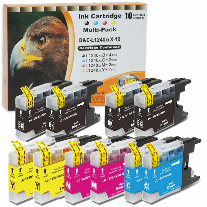 Kompatibel Brother LC-1240 XL Set 10 Druckerpatronen alle...