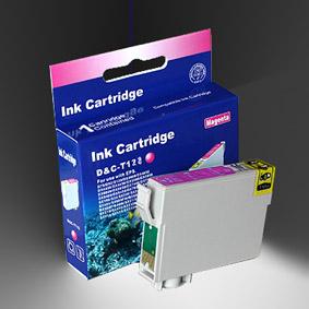 Kompatibel Epson Fuchs, T1283, T128, C13T12834010 M Magenta Rot Druckerpatrone für 140 Seiten von D&C