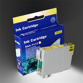 Kompatibel Epson Fuchs, T1284, T128, C13T12844010 Y Yellow Gelb Druckerpatrone für 170 Seiten von D&C
