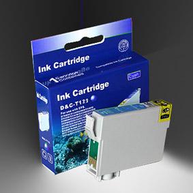 Kompatibel Epson T1292, Apfel, T129, C13T12924010 C Cyan Blau Druckerpatrone für 460 Seiten von D&C