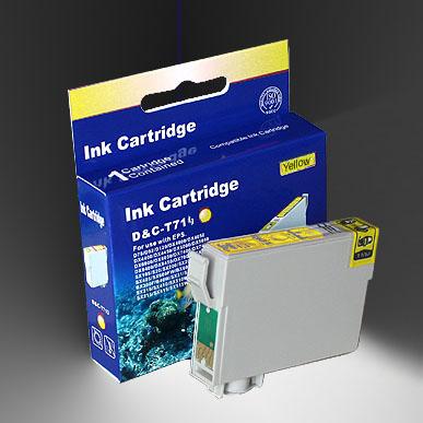 Kompatibel Epson Gepard, T0714, T071, C13T07144010 Y Yellow Gelb Druckerpatrone für 415 Seiten von D&C
