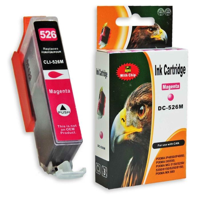 Kompatibel Canon CLI-526, 4542B001 M Magenta Rot Druckerpatrone für 660 Seiten von D&C