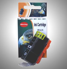 Kompatibel Canon 2933B001, CLI-521 BK Schwarz Black Druckerpatrone für 665 Seiten von D&C