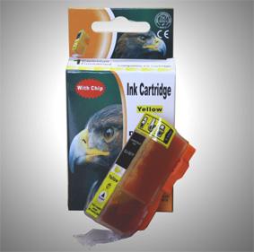 Kompatibel Canon 2936B001, CLI-521 Y Yellow Gelb Druckerpatrone für 650 Seiten von D&C