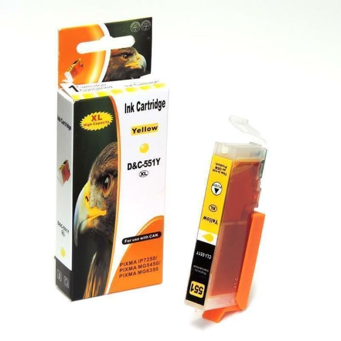 Kompatibel Canon 6446B001, CLI-551 XL Y Yellow Gelb...