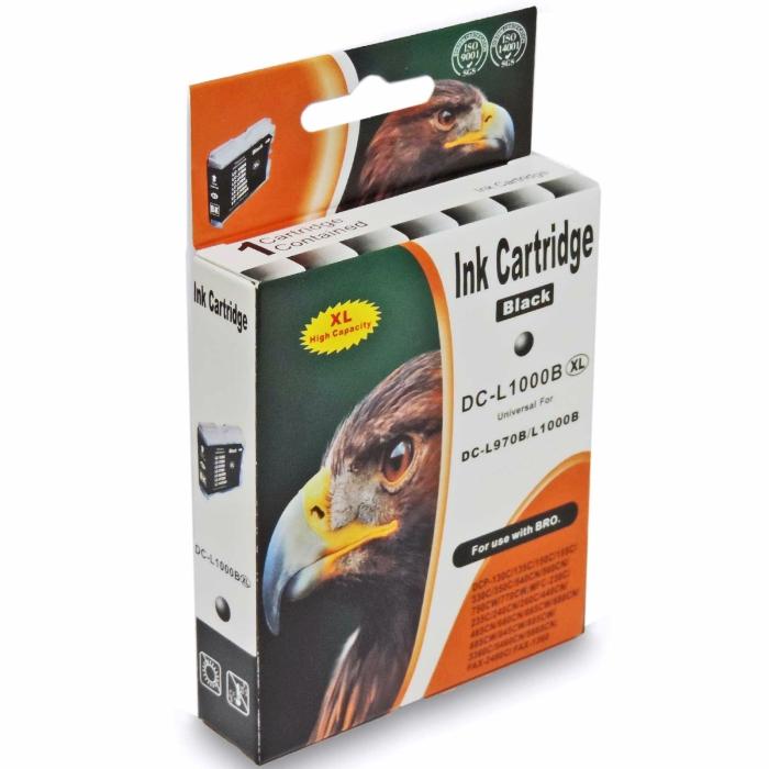 Kompatibel Brother LC-1000 XXL, LC-970 XXL BK Schwarz Black Druckerpatrone für 500 Seiten von D&C