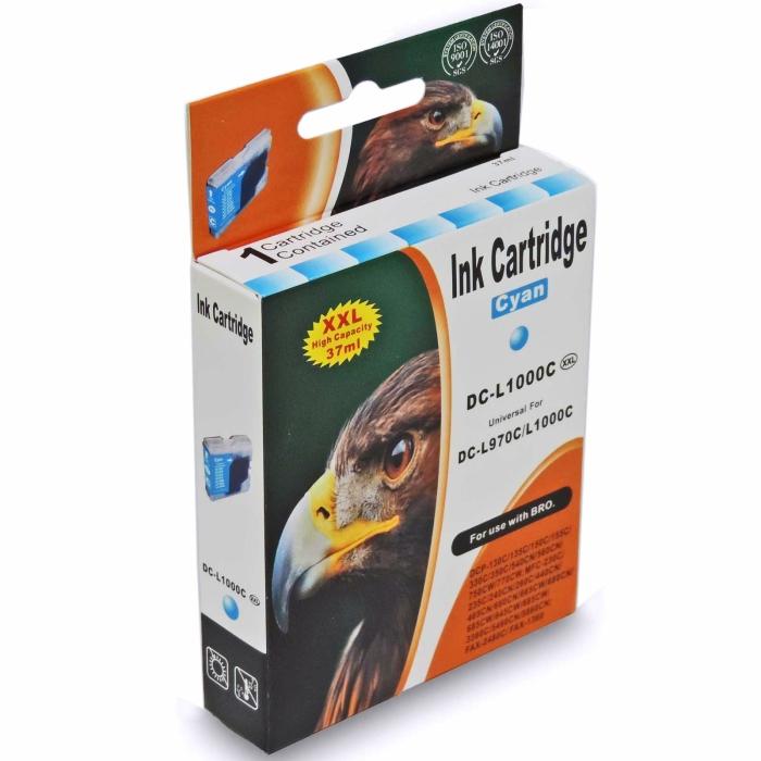 Kompatibel Brother LC-1000 XXL, LC-970 XXL C Cyan Blau Druckerpatrone für 400 Seiten von D&C