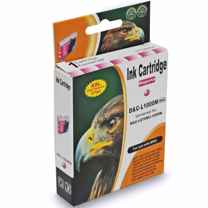 Kompatibel Brother LC-1000 XXL, LC-970 XXL M Magenta Rot Druckerpatrone für 400 Seiten von D&C
