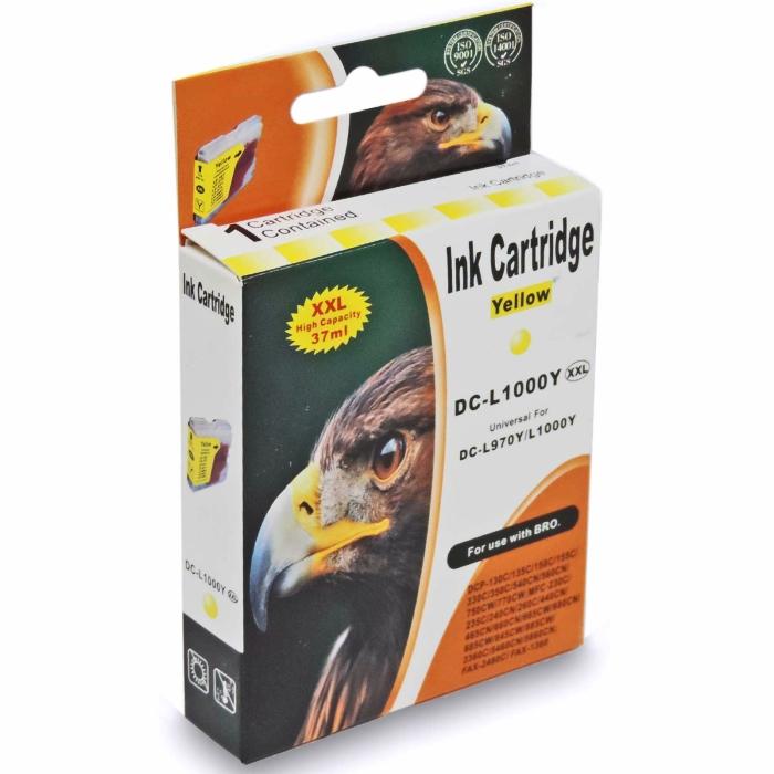 Kompatibel Brother LC-1000 XXL, LC-970 XXL Y Yellow Gelb Druckerpatrone für 400 Seiten von D&C