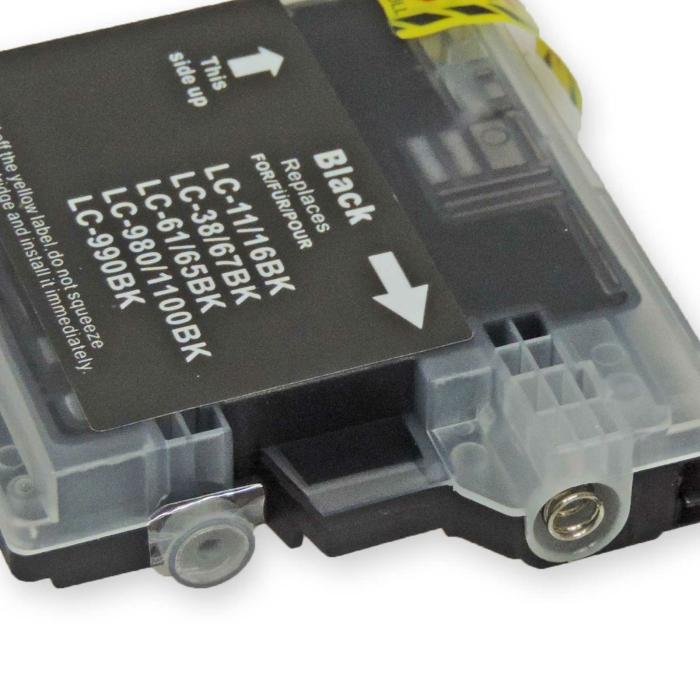 Kompatibel Brother LC-980, LC-1100 BK Schwarz Black Druckerpatrone für 450 Seiten von D&C