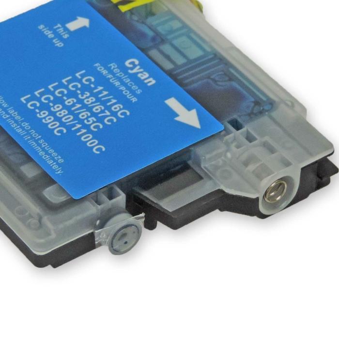 Kompatibel Brother LC-980, LC-1100 C Cyan Blau Druckerpatrone für 325 Seiten von D&C