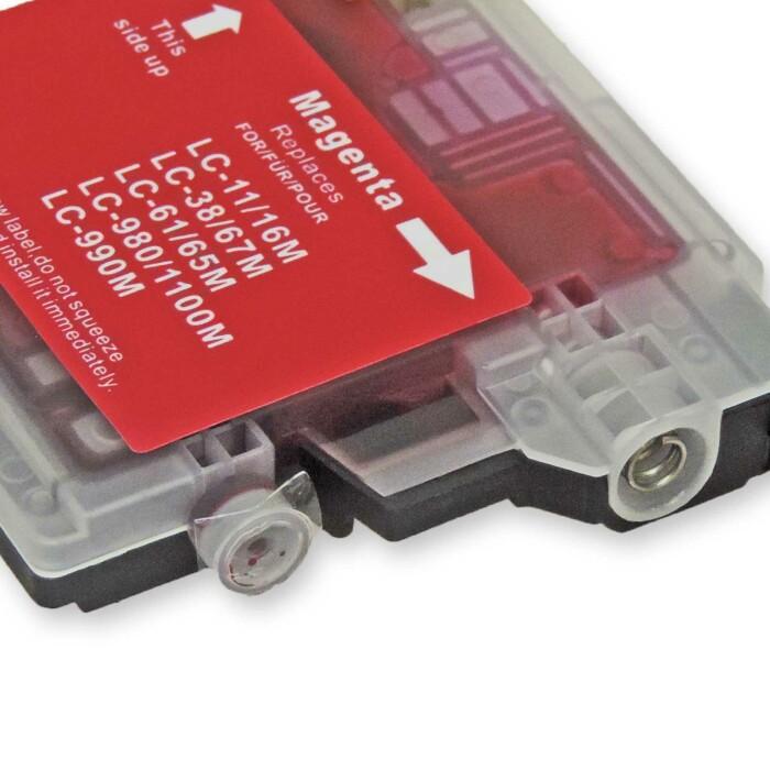 Kompatibel Brother LC-980, LC-1100 M Magenta Rot Druckerpatrone für 325 Seiten von D&C