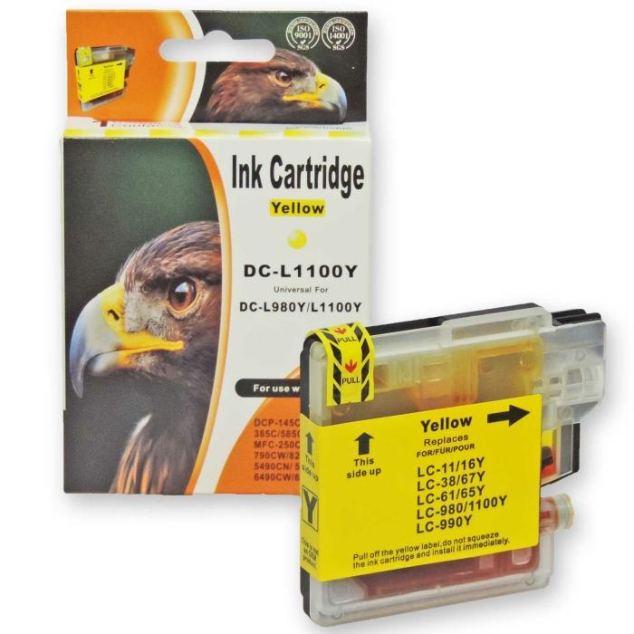 Kompatibel Brother LC-980, LC-1100 Y Yellow Gelb...