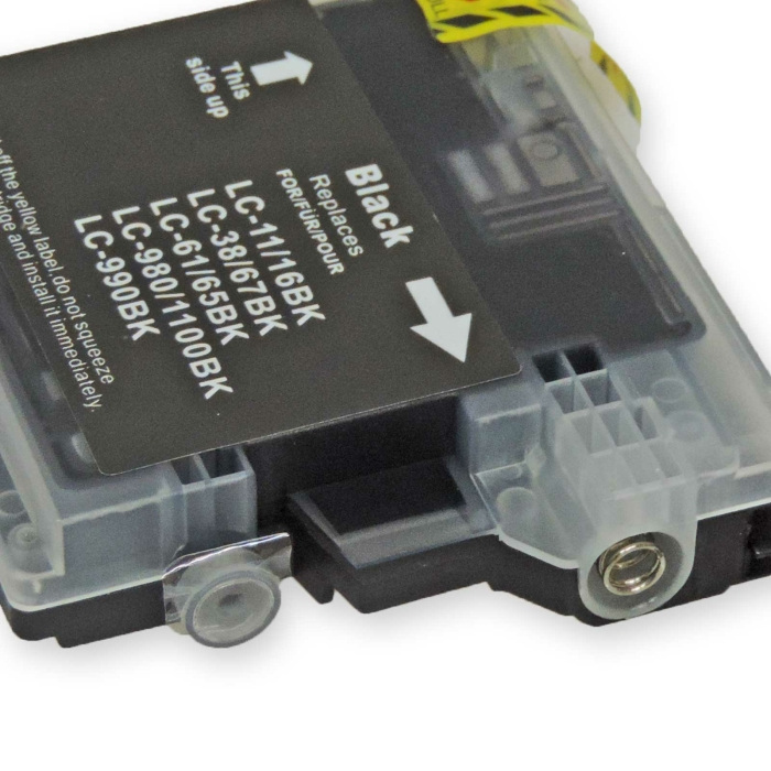 Kompatibel 4x Brother LC-980, LC-1100 BK Black Multipack schwarze Druckerpatronen je 450 Seiten von D&C