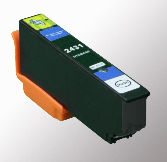 Kompatibel Epson Elefant, T2431, 24XL, C13T24314010 BK Schwarz Black Druckerpatrone für 510 Seiten von D&C
