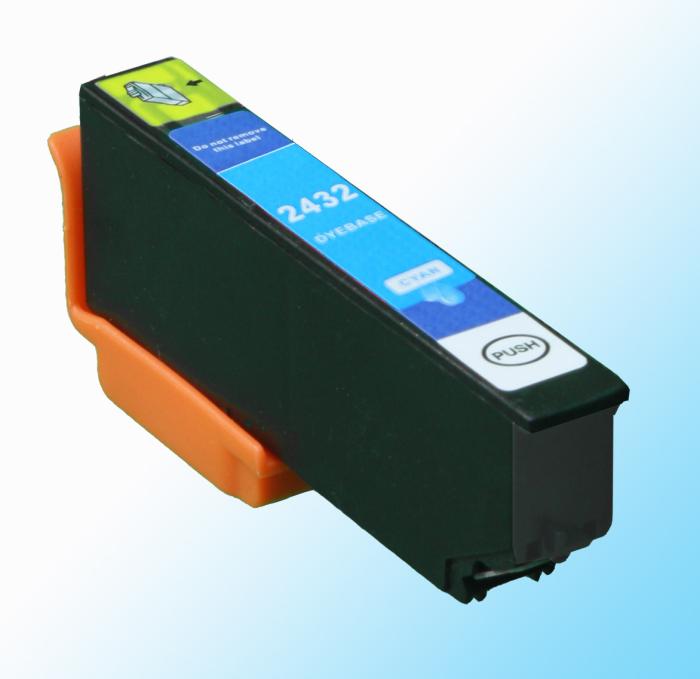 Kompatibel Epson Elefant, T2432, 24XL, C13T24324010 C Cyan Blau Druckerpatrone für 875 Seiten von D&C