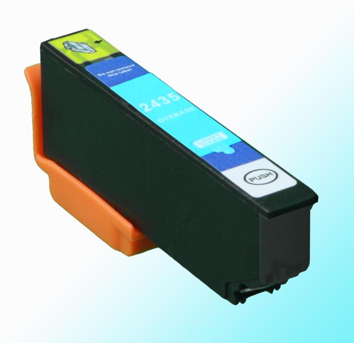 Kompatibel Epson Elefant, T2435, 24XL, C13T24354010 LC Light-Cyan Hell-Blau Druckerpatrone für 560 Seiten von D&C