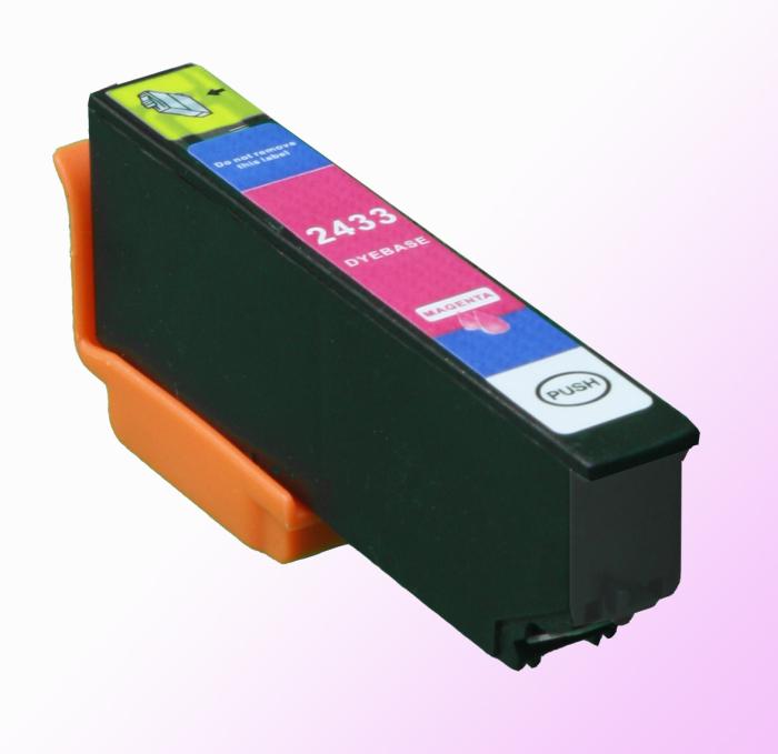 Kompatibel Epson Elefant, T2433, 24XL, C13T24334010 M Magenta Rot Druckerpatrone für 610 Seiten von D&C